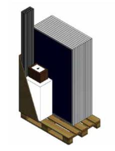 solceller paket med solceller, växelriktare och montering.