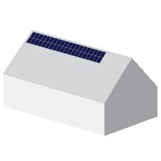 Solceller på hus animerad stor